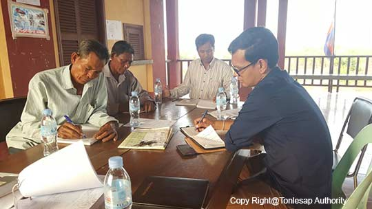 Activities to study, understand, and compile the information about the conflicts of the division of natural resource benefits in main areas in Siem Reap Province